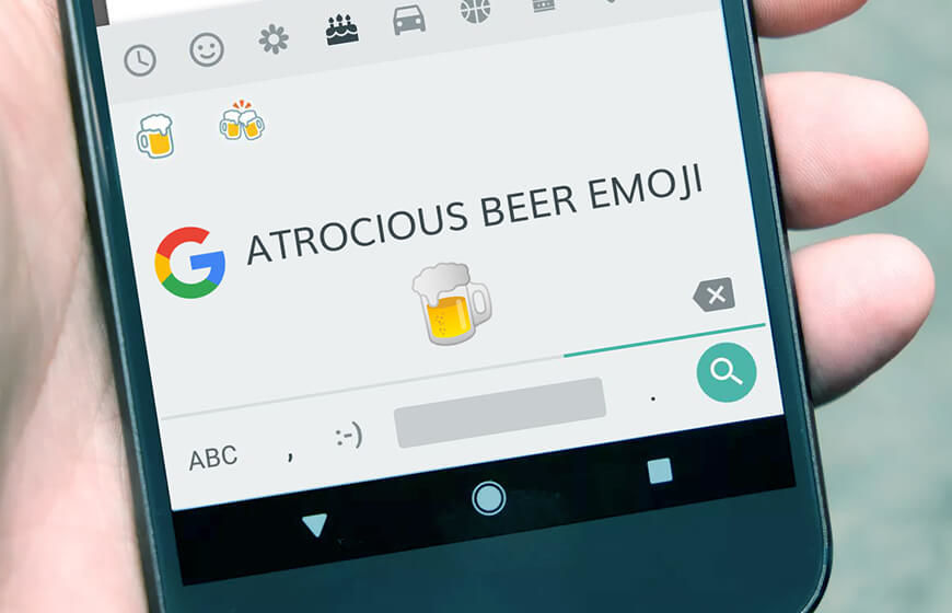 Google Fixes The Beer Emoji in Android 8.1