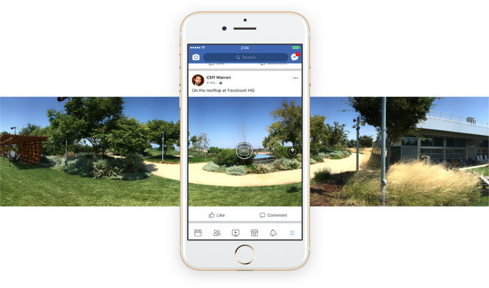 Facebook Added 360-Degree Image Capturing Feature in The App