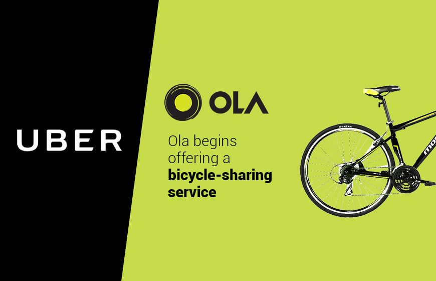 With Pedal-Power Bike-Sharing Service Ola is Now Competing With Uber