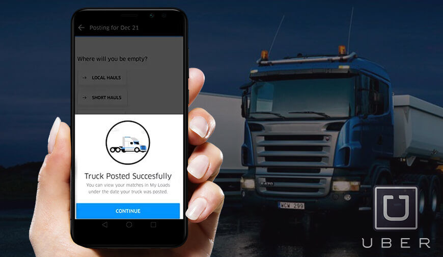 Uber Rolls Out a New Features for Trucking Apps