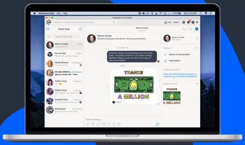 https://dk2dyle8k4h9a.cloudfront.net/Workplace Chat App Launched by Facebook for Mac and PC