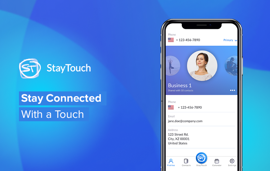 StayTouch App: Digital Business Card On-the-Go