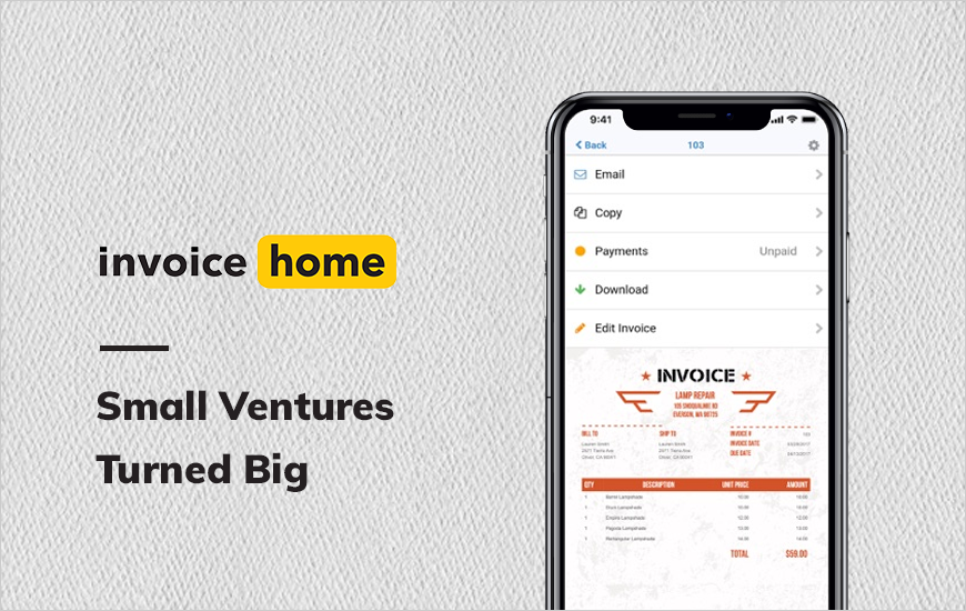 Invoice Home: Payments and Invoicing at a Click