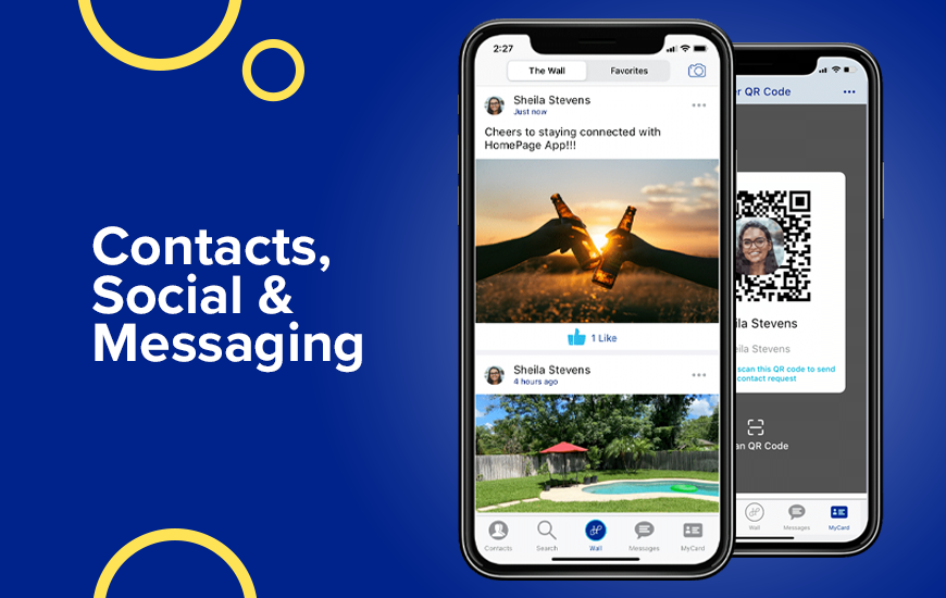HomePage: Contact List Networking & Messaging  App