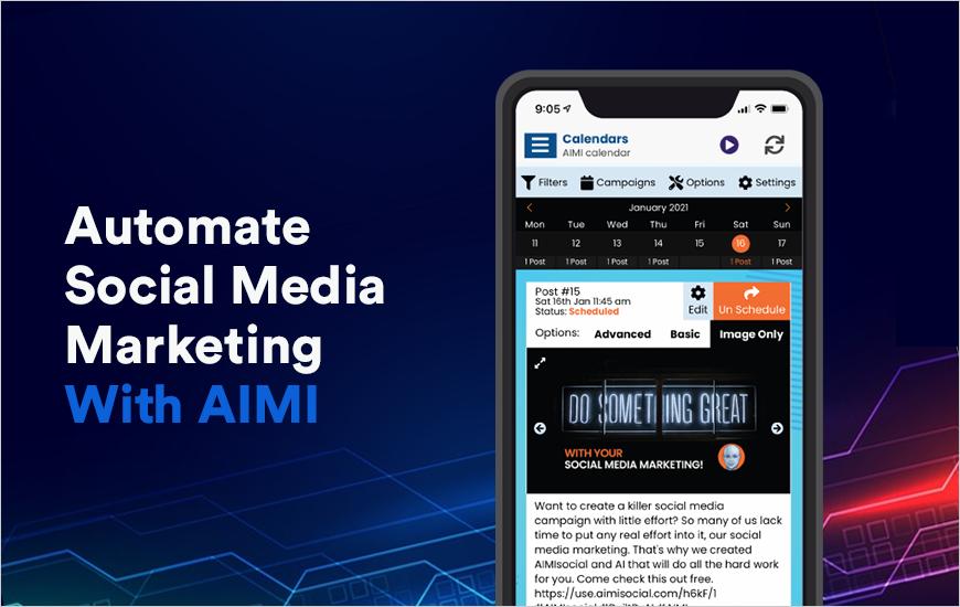 AIMIsocial App - An AI-powered Social Media Market
