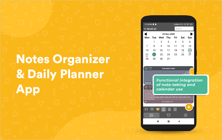 Notagenda - A One Stop App for Notes & Scheduling