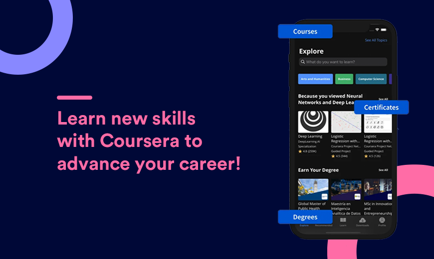 Coursera - Learn & Earn Certifications from Home