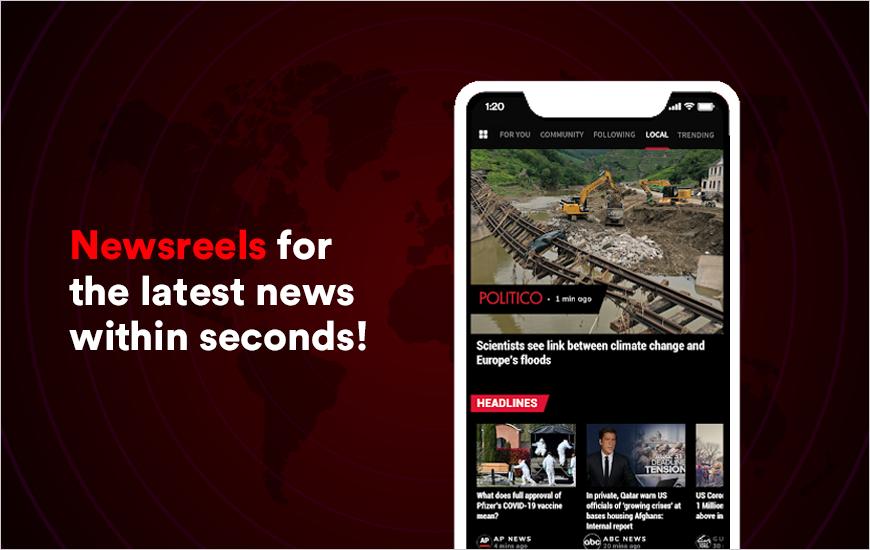 Newsreels - A Smart News App With News Reels