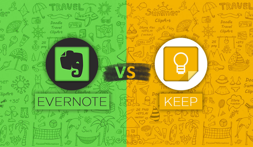 Google keep and Evernote