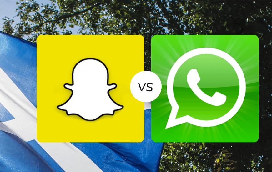 WhatsApp Vs. Snapchat