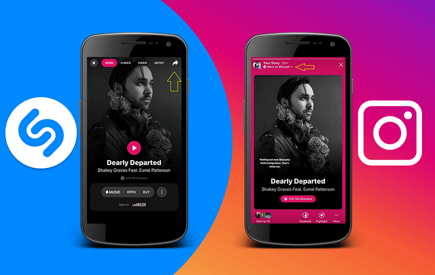 Now Instagram Let's You Share Songs You Shazam