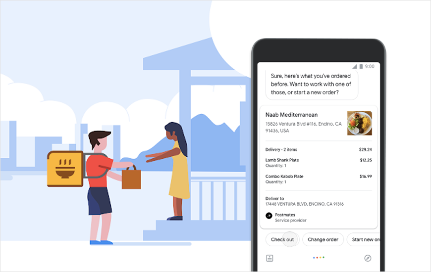 Google Adds Food Delivery Service Integration: Now Order Food Via Google Assistant, Search and Maps
