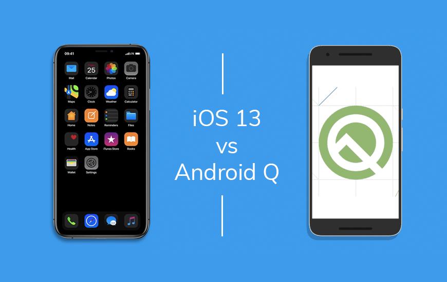 Android Q vs iOS 13