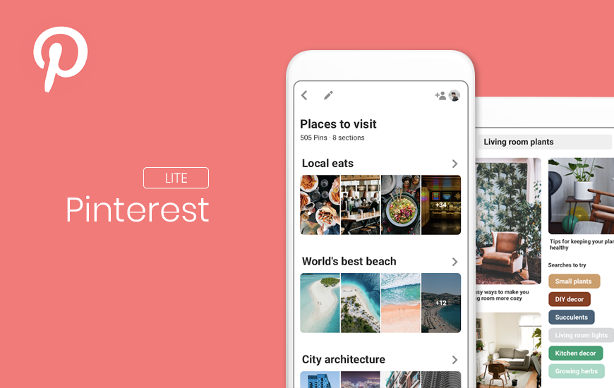 Introducing the Pinterest Lite- A shorter and smarter version for the developing markets