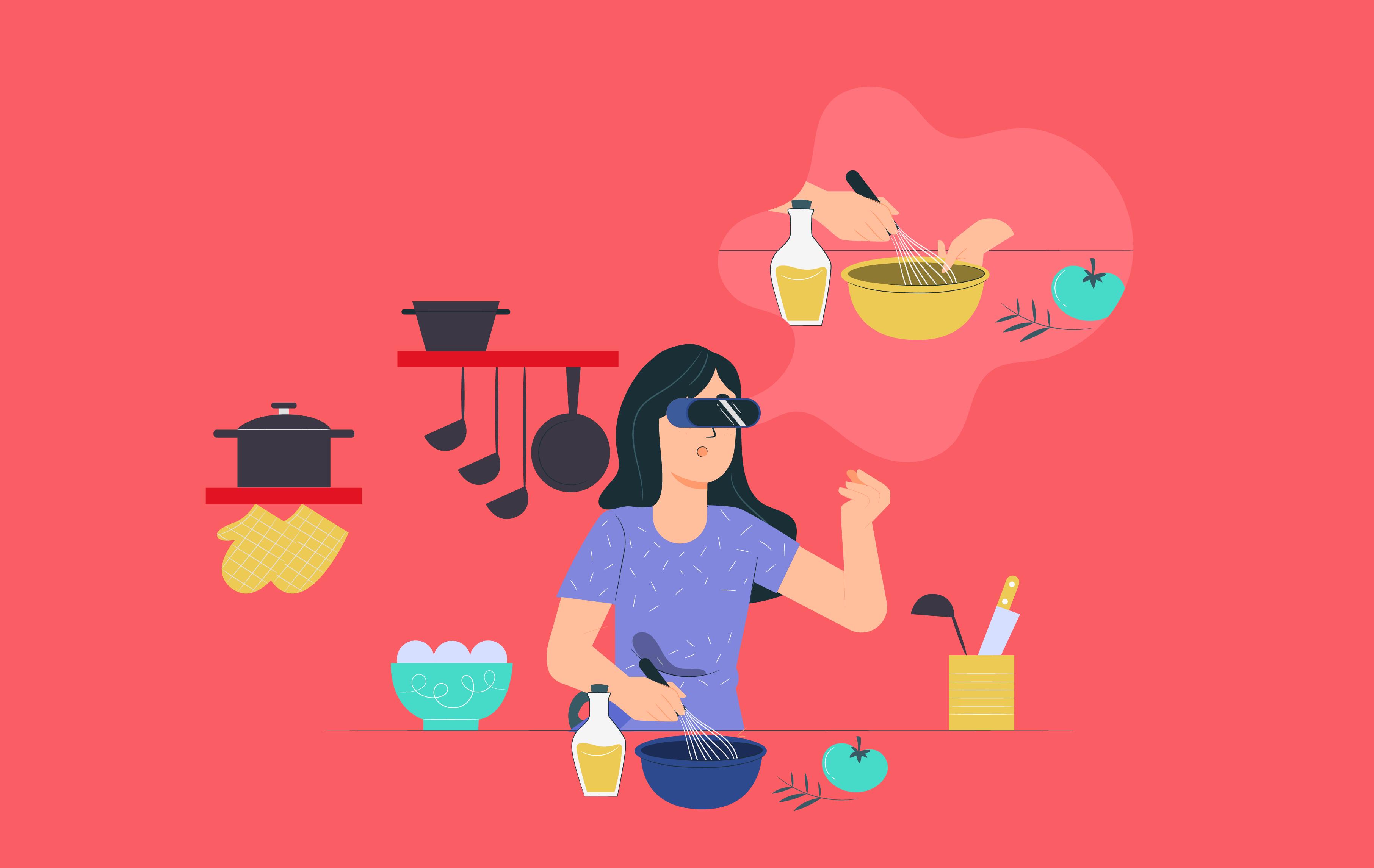 R & VR in food industry