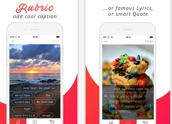 Rubric: Now You have The App For Perfect Image Caption